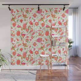 Blooming Paradise Garden Pattern Wall Mural