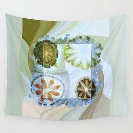 Lignin Spacing Flowers  ID:16165-040505-07411 Wall Tapestry