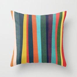 Mid-century zebra Throw Pillow