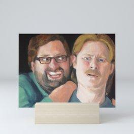 Tim and Eric Portrait Mini Art Print