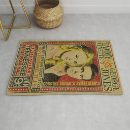 Tammy Wynette & George Jones Concert metal tin sign Rug