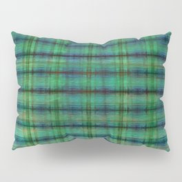 Forest Straw Plaid On Frozen Lake Pillow Sham