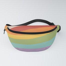 Rainbow Stripes 4 Fanny Pack