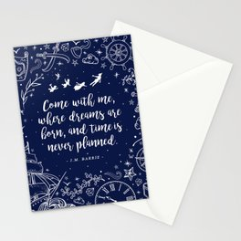 Where dreams are born Stationery Cards