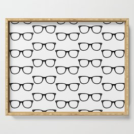 Black Funky Glasses Serving Tray