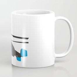 Black and Blue Helicopter Coffee Mug