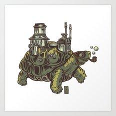Steampunk Turtle Art Print