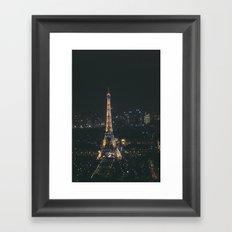 Eiffel Tower Light Show Framed Art Print