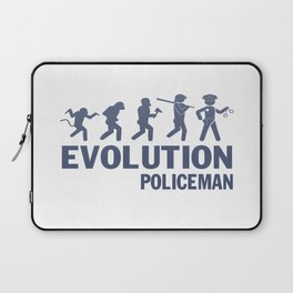 Evolution - Policeman Laptop Sleeve