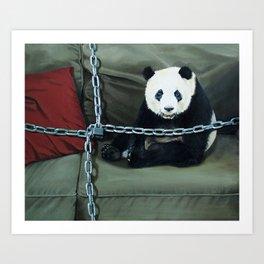 Locked Panda Art Print