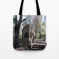 chris evans Tote Bags featuring Evans Lookout Blue Mountains by JMPhotography