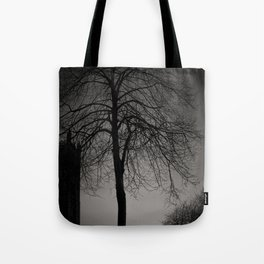 silhouette at Durham Cathedral Tote Bag