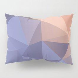 Ariel — poster purpur, violet, rosa, nude, solmon, low poly, geometric, water, landscape, sunrise Pillow Sham