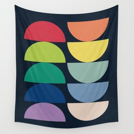 Abstract Flower Palettes Wall Tapestry