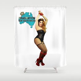 Ruby Slippers - NSW - Dragnation Shower Curtain