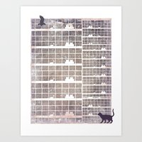 Our building, early in the morning Art Print