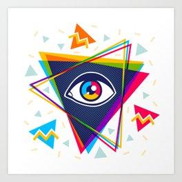 Pyramid with eye Art Print