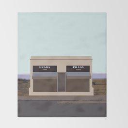 Marfa Installation: A digital illustration Throw Blanket