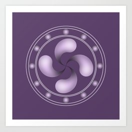 LAUBURU IN PURPLE (abstract geometric symbol) Art Print
