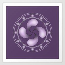 LAUBURU IN PURPLE (abstract geometric symbol) Art Print