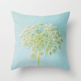 Lace in Blue Throw Pillow