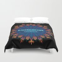 book cover Duvet Covers featuring Kaleidoscope Art Book Cover by Sam Skyler