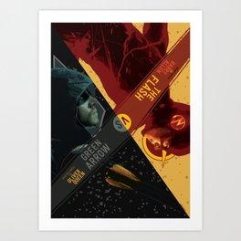 The Flash VS The Green Arrow Art Print