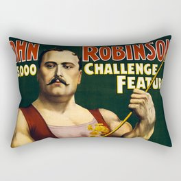 Louis Cyr, Strongest Man on Earth Rectangular Pillow