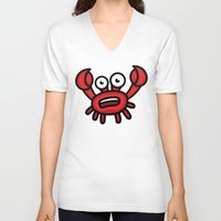 luigi V-neck T-shirts featuring Crab Luigi by Leon-Design
