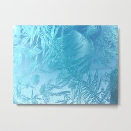 Hoar Frost: Diagonal Feathers Metal Print