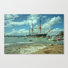 HMS Warrior at Portsmouth Harbour Canvas Print
