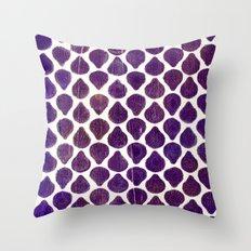 Purple Peeking Throw Pillow