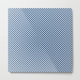 Star Sapphire and White Polka Dots Metal Print