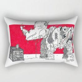 Red Rhino Rectangular Pillow