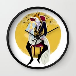 Mr Fox and Miss Rabbit Wall Clock