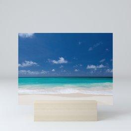Peaceful Turquoise Blue Ocean Seascape Mini Art Print