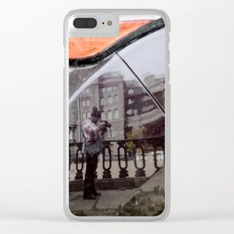 The reflection in the car Clear iPhone Case