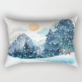 Happy Litlle Wildlife Rectangular Pillow