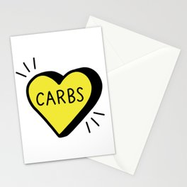 Love Carbs Stationery Cards