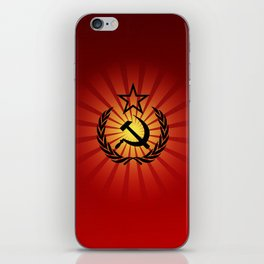 Sunny Hammer and Sickle iPhone Skin