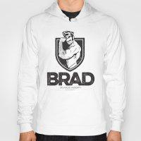 brad pitt Hoodies featuring BRAD by BradLee