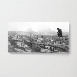 Old Time Godzilla Metal Print