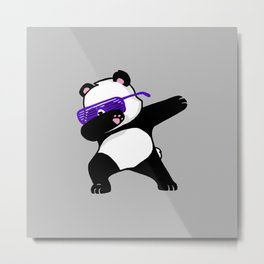 Dabbing Panda Metal Print