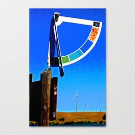 Delta Wind Gauge for Kite Boarders Canvas Print