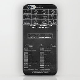 COCKTAIL print iPhone Skin