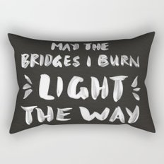 Burned Bridges – Black & White Rectangular Pillow