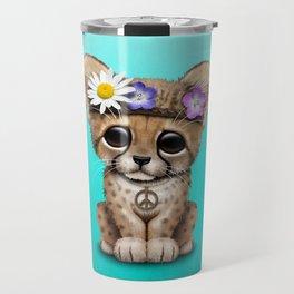 Cute Baby Cheetah Hippie Travel Mug