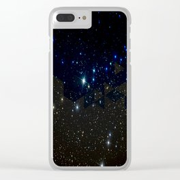 SPACE BACKGROUND Clear iPhone Case