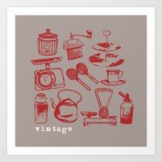 kitchen vintage Art Print