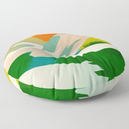 mountains landscape abstract Floor Pillow